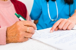 home health care provider answers list of questions in writing
